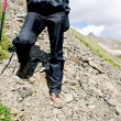 Woman hiker — Stock Photo