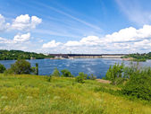 Dnipro water-power plant — Stock Photo
