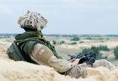 Soldier at rest — Stock Photo