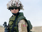 Canadian soldier — Stock Photo