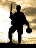 Nous soldat — Photo