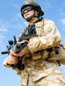 британский солдат — Стоковое фото