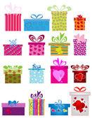 Cajas de regalo diferente — Vector de stock