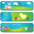 Banners for Easter day — Stock Vector