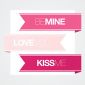 Modern Valentines Love Banners — Stock Vector