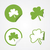 St Patricks Day Stickers — Stock Vector
