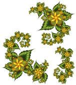 Conjunto de elementos florales — Foto de Stock