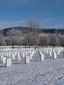 Winter at the National Cemetery — Stock Photo