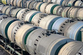 Transport de pétrole dans le réservoir de chemin de fer — Photo