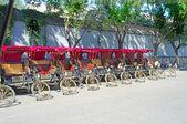Parking trishaw — Stock Photo