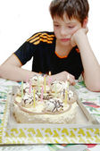 Birthday - a sad holiday — Stock Photo