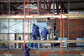 Construction site at stage finishes — Stock Photo