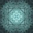 Abstract blue kaleidoscope - Stock Photo