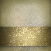 White and gold background — Stock Photo