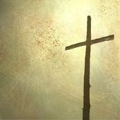 Easter cross background — Stock Photo