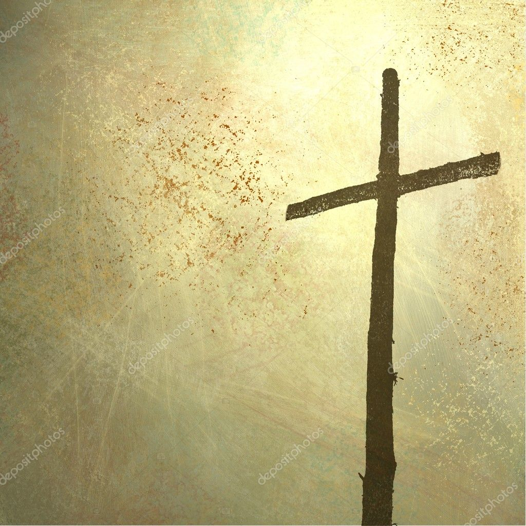 Religious and inspiration Christian background with cross illustration for Easter or church bulletin with copyspace — Stock Photo #9452351