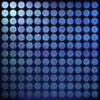 Blue polka dot background — Stock Photo