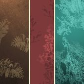 Banner backgrounds with floral grunge texture — Stock Photo