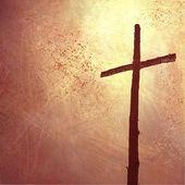 Páscoa cruz fundo — Foto Stock
