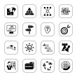 Stock Vector: Business strategy icons - BW series