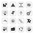 Business strategy icons - BW series — Stock Vector #10492190