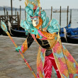 Masked person in Venice — Stock Photo #8100445