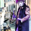 Stock Photo: VENICE, ITALY - MARCH 4: Detail of unidentified masked person st