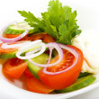Salad on a plate - Stock Photo