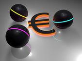 Euro - balls — Stock Photo
