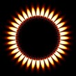 Gas Flame. - Stock Vector