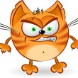 The angry orange cartoon cat — Stock Vector