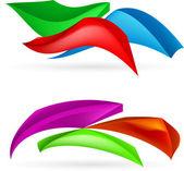 Tre färgglada abstrakta former — Stockvektor
