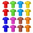 Bright colored shirts — Stock vektor
