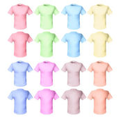 Shirts pale tones — Stock Vector