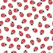 Seamless ladybug pattern — Stock Vector