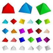 Piramides — Stockvector