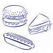 Stock Vector: Fast food icons
