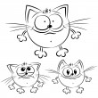 Cartoon cats — Image vectorielle
