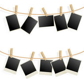 Photo Frames on Rope — Vector de stock
