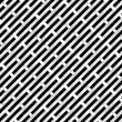 Black and white Grid — Imagen vectorial