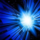 蓝色光芒 — 图库照片