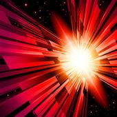红色光芒 — 图库矢量图片