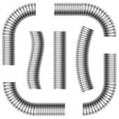 Corrugated drain pipes — Stock Photo
