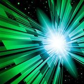 绿色光芒 — 图库矢量图片