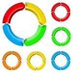 Set of arrow circles — Stock Vector