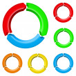 Set of arrow circles — Stock Vector #9885787