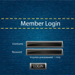 Stock Photo: Vector login background with blue jeans motive