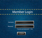 Vector login background with blue jeans motive — Stock Photo