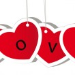 Vector red valentine heart — Stock Photo #8225459