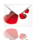 Vector envelope with heart — Stock Photo